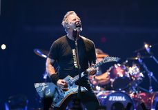 James Hetfield immagini stock