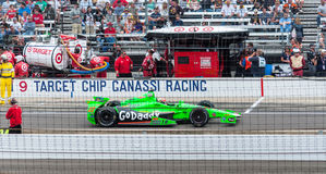 James Hinchcliffe entering the Pit. Royalty Free Stock Photos