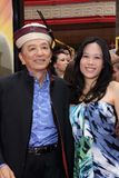 James Hong. And daughter  at the 'Kung Fu Panda 2' Film Premiere, Chinese Theater, Hollywood, CA. 05-22-11 Royalty Free Stock Photo