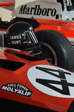 James Hunt race cars at the Brands Hatch Masters 2016. Stock Images
