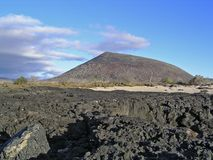James island, Galapagos. Galapagos volcanic landscape royalty free stock photography