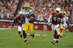 James Jones Wide Receiver para los Green Bay Packers Foto de archivo