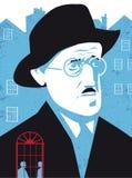 James Joyce, Irish poet and writer. James Joyce, famous Irish poet and writer, the dubliners, Ulysses, vector illustration vector illustration