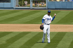 James Loney. Los angeles dodgers' infielder James Loney on a field Stock Photo