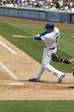 James Loney. Los angeles dodgers' infielder James Loney in action Royalty Free Stock Photography