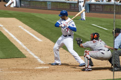 James Loney. Los Angeles Dodgers' infielder James Loney in action Stock Image