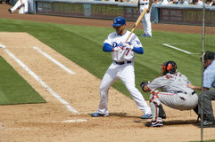 James Loney. Los angeles dodgers' infielder James Loney in action Stock Photo