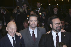 James Mangold, Hugh Jackman, Patrick Stewart Photographie stock libre de droits