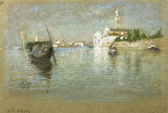 James McNeill Whistler - The Cemetery Venice, 1879 stock image