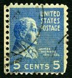 James Monroe USA portostämpel Royaltyfri Bild