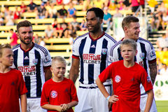 James Morrison, Jolean Lescott e James McLean, West Bromwich Albion Fotografia Stock