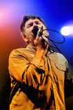 James Murphy, frontman of LCD Soundsystem, performs at Discotheque Razzmatazz. BARCELONA - NOV 6: James Murphy, frontman of LCD Soundsystem, performs at Royalty Free Stock Photo