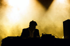 James Murphy, from LCD Soundsystem band, performs as DJ at Santander Music Festival Stock Image