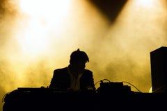 James Murphy, van LCD Soundsystem band, presteert als DJ bij de Muziekfestival van Santander Stock Afbeelding