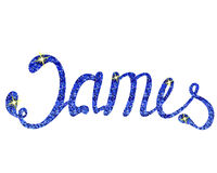 James name lettering tinsels Royalty Free Stock Image