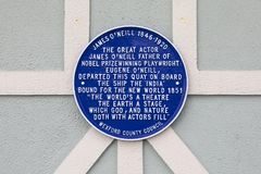 James nolla-` Neill Plaque i nya Ross, Irland royaltyfria bilder