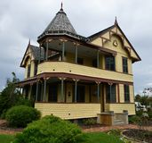 James Pritchard House. This is a Summer picture of the historic James Pritchard House located in Titusville, Florida in Brevard County. This two-story frame royalty free stock image