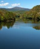 James River —blått Ridge Parkway royaltyfria bilder