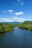 James River from the  Blue Ridge Parkway Royalty Free Stock Photography