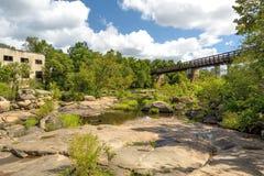 James River en Richmond Va Imagenes de archivo