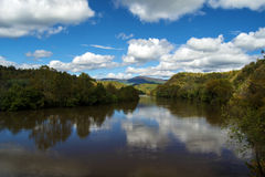 The James River in the Fall Stock Image