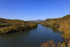 James River. Off the Blue Ridge Parkway in Virginia during the fall season stock photos
