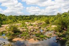 James River in Richmond Va Fotografie Stock Libere da Diritti
