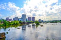James River Skyline Immagine Stock Libera da Diritti