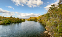 James River su Ridge Parkway blu Fotografia Stock Libera da Diritti
