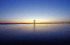 James River at Sunset, Jamestown, VA Stock Photos