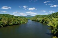 James River van Blauw Ridge Parkway royalty-vrije stock foto