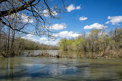 James River - 1. A view of James River located in Botetourt County, Virginia, USA, after a spring heavy rain royalty free stock photos