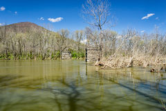 James River - 2. A view of James River located in Botetourt County, Virginia, USA, after a spring heavy rain stock photos
