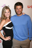 James Roday,Maggie Lawson. Maggie Lawson & James Roday  arriving at the NBC TCA Party at the Beverly Hilton Hotel  in Beverly Hills, CA on July 20, 2008 Royalty Free Stock Image