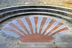 James Scallop-shell als kunstwerk in het bedekken, Huy wordt gebruikt die royalty-vrije stock afbeelding