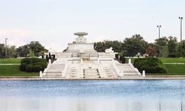 James Scott Pamiątkowa fontanna jest zabytkiem lokalizować w belle wyspy parku Obraz Stock