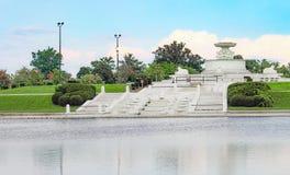James Scott Pamiątkowa fontanna jest zabytkiem lokalizować w belle wyspy parku Fotografia Stock