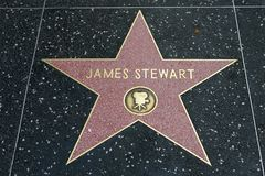 James Stewart star on the Hollywood Walk of Fame Stock Photos