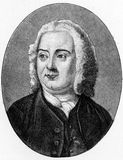 James Thomson. (1700 - 1748) Scottish poet and playwright, known for his masterpiece The Seasons and the lyrics of Rule, Britannia!; engraving from Selections Royalty Free Stock Photo