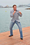 James Toback, Jean-Claude Van Damme, Mike Tyson Stock Image