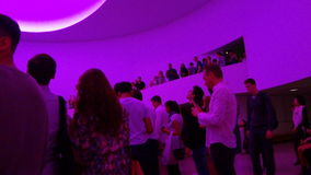 James Turrell's Aten Reign @ The Guggenheim 60. (2013)  A major new project that recasts the Guggenheim rotunda as an enormous volume filled with shifting Stock Photos