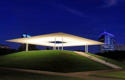 James Turrell`s Skyspace in Rice University, Houston, Texas, at night stock photography