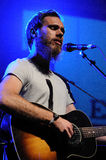James Vincent McMorrow performs at Madrid. MADRID, SPAIN - JUNE 23: James Vincent McMorrow performs at Matadero de Madrid on June 23, 2012 in Madrid, Spain. His Stock Photos