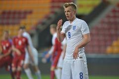 James Ward-Prowse. PRAGUE 27/03/2015 _ Friendly match Czech Reublic U21 - England U21 Stock Images