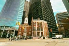 James Watson House del distretto finanziario U.S.A. fotografie stock
