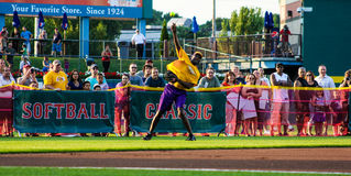 James Worthy in leftfield. Royalty Free Stock Photos