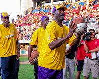 James Worthy, Magic Johnson and Kareem Abdul-Jabbar. Stock Images