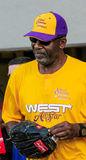 James Worthy playing softball Royalty Free Stock Images