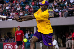 James Worthy takes a swing for the Jeffrey Osborne Foundation. Royalty Free Stock Photography