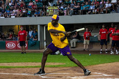 James Worthy takes a swing for the Jeffrey Osborne Foundation. Royalty Free Stock Images